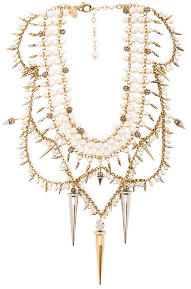 Erickson Beamon Debutante Necklace in Gold & Pearl