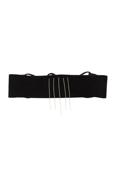 ERTH Suede Choker No. 3 in Black & Gold