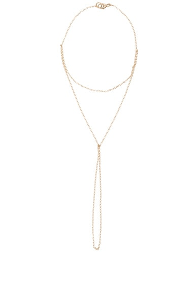 ERTH 14K Gold Hand Chain in Gold