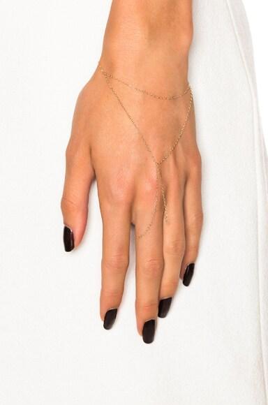 14K Gold Hand Chain