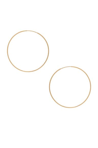 ERTH 14K Gold Hoop II Earring in Gold