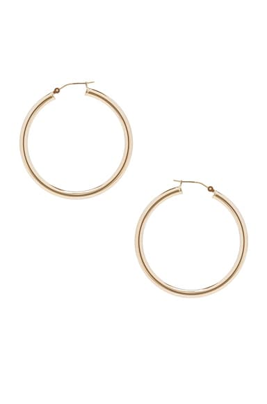 ERTH 14K Gold Hoop X Earring in Gold