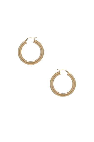 ERTH 14K Gold Hoop XXX Earring in Gold