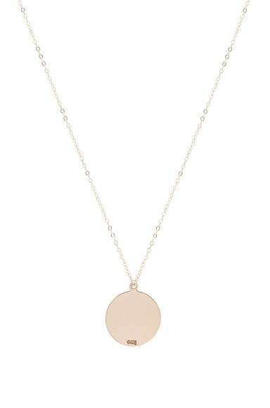 ERTH 14K Gold Large Plate Necklace in Gold