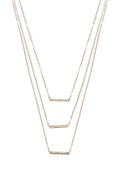 ERTH 14K Gold 3 Bar Necklace in Gold