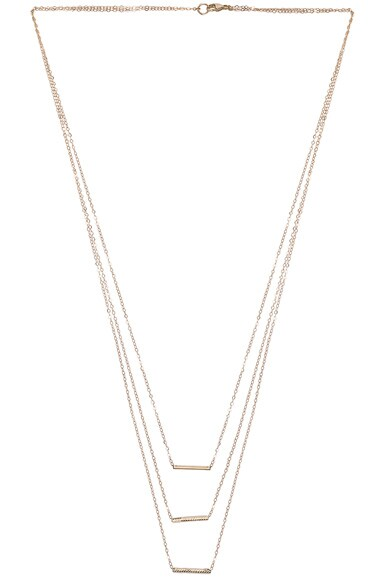 14K Gold 3 Bar Necklace