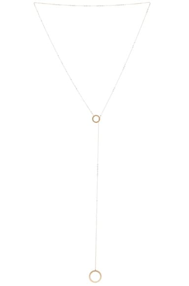 ERTH 14K Gold Drop Ring Necklace in Gold