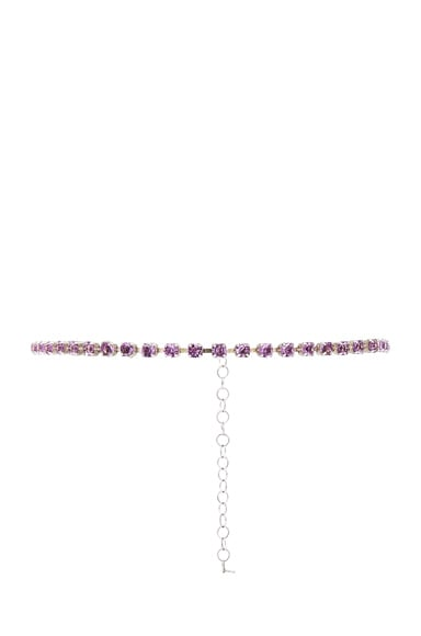 ERTH for FWRD Sterling Silver Crystal Necklace in Pink