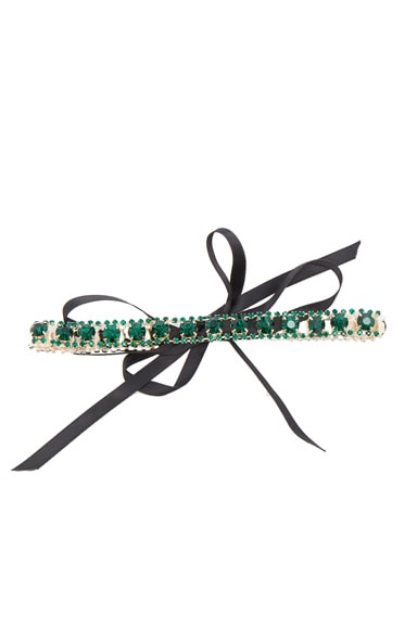 ERTH for FWRD Vintage Crystal Choker in Green Vintage & Black