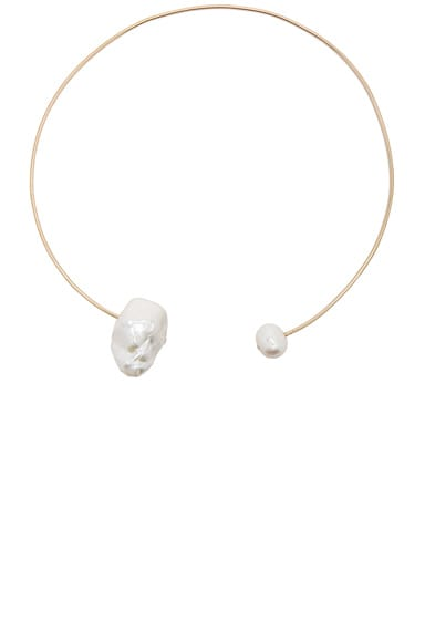 14K Gold Pearl & Diamond Choker
