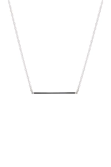 ERTH Bar Necklace in Silver