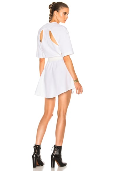 Esteban Cortazar Cut Outs Dress in White