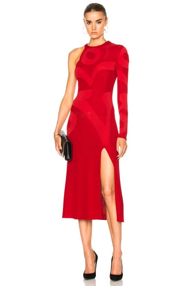 Esteban Cortazar Cloud Sign Dress in Rouge