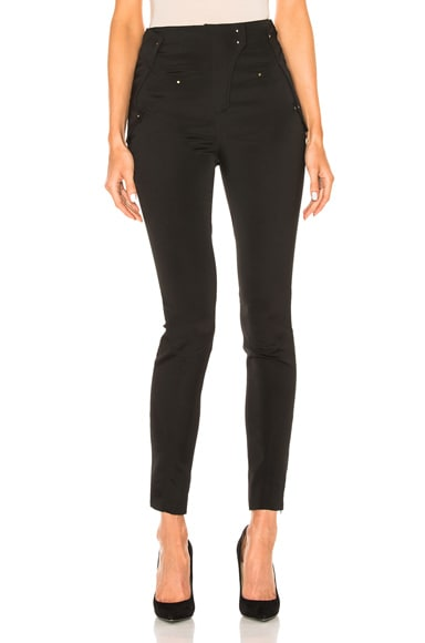 Esteban Cortazar Hem Zippers Pants in Black