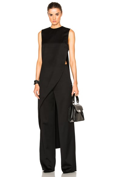 Esteban Cortazar Two Piece Jumpsuit in Black