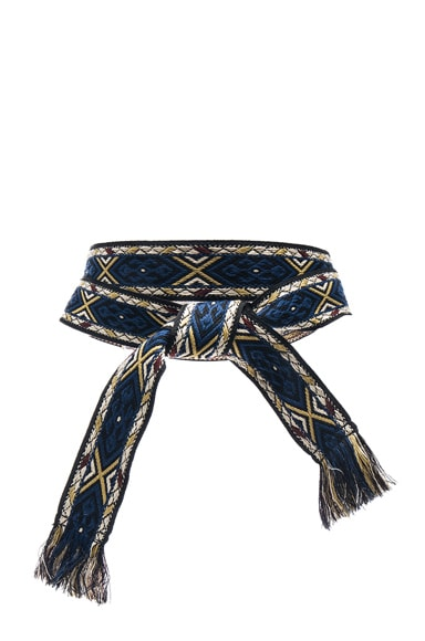 Isabel Marant Etoile Ulan Carpet Belt in Blue