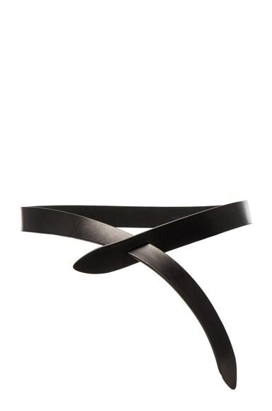 Isabel Marant Etoile Lecce Leather Belt in Black