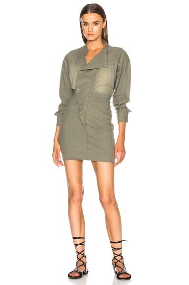 Lindsey Chambray Long Sleeve Dress