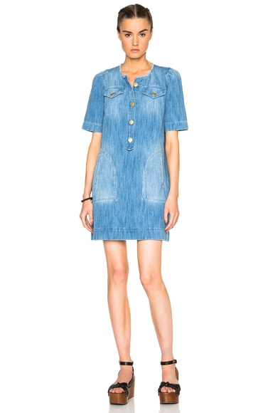 Oriane Fluffy Jean Dress