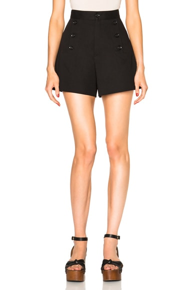 Isabel Marant Etoile Maud Navy Suits Shorts in Black