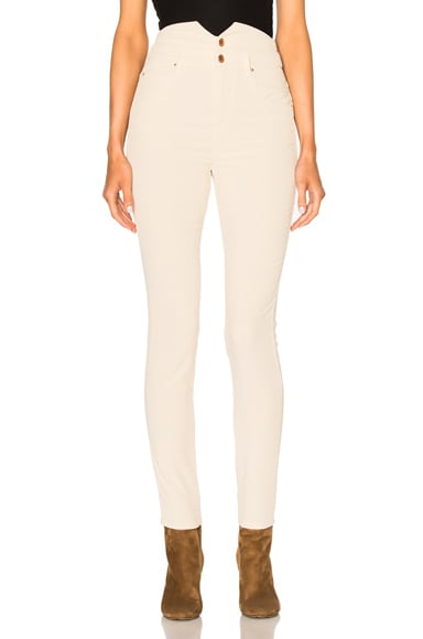 Isabel Marant Etoile Farley High Waisted Jeans in Chalk