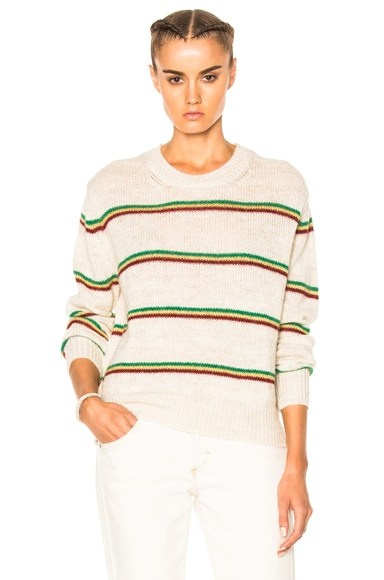 Goya Striped Alpaca Knit Sweater