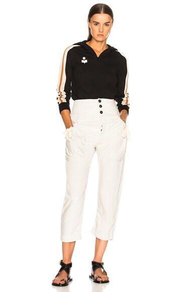 Dawson Sporty Knit Hooded Sweatshirt