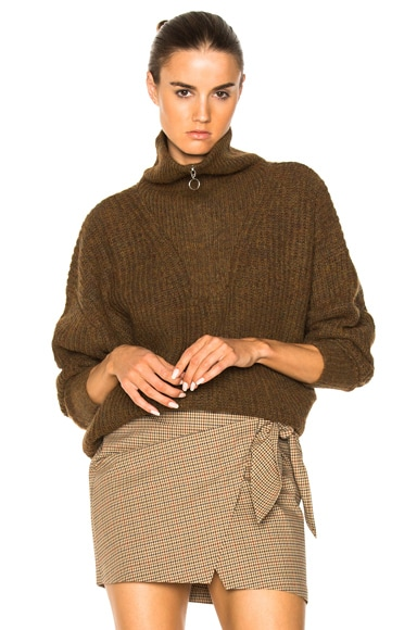 Declan Grunge Knit Turtleneck Sweater