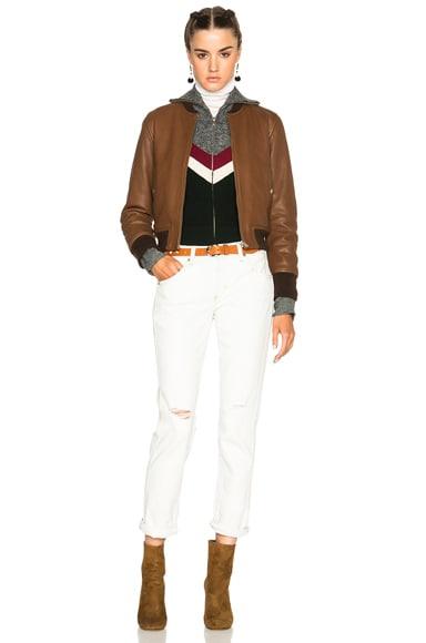 Brantley Washed Leather Jacket