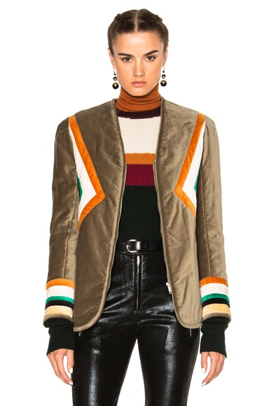 Lalia Velvet Patch Jacket
