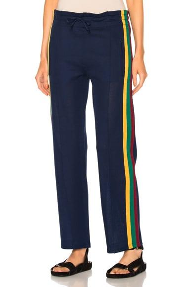 Isabel Marant Etoile Dobbs Sporty Knit Pants in Blue