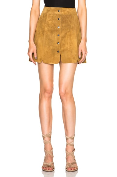 Isabel Marant Etoile Anna Suede Skirt in Camel