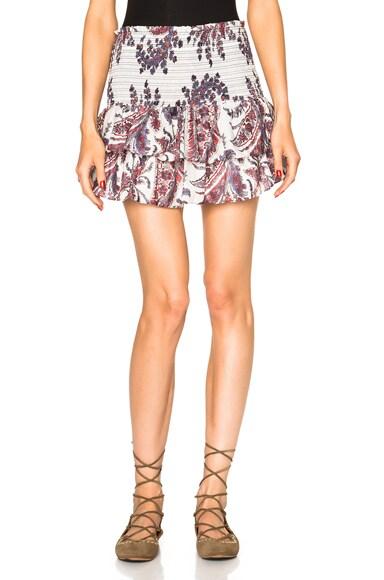 Isabel Marant Etoile Shanon Cotton Paisley Skirt in Midnight
