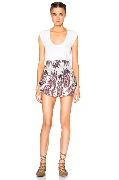 Shanon Cotton Paisley Skirt