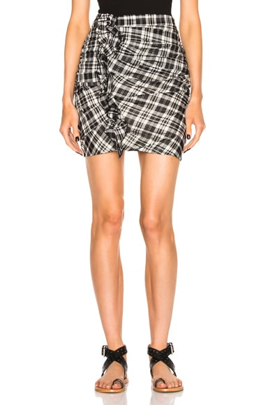 Isabel Marant Etoile Wilma Chic Check Skirt in Black