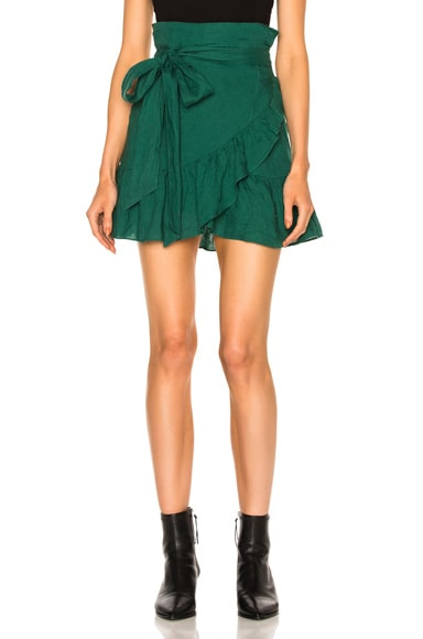 Isabel Marant Etoile Dempster Chic Linen Skirt in Green