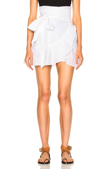 Isabel Marant Etoile Dempster Chic Linen Skirt in White