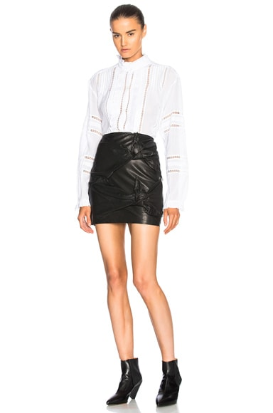 Gritanny Washed Leather Knotted Skirt