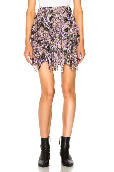 Jocky Flowers Camouflage Mini Skirt