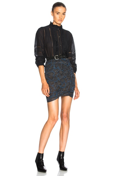 Edna Printed Chiffon Silk Skirt