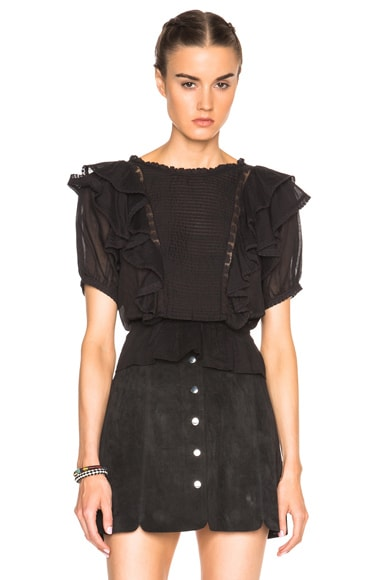 Isabel Marant Etoile Nathan Alice Items Top in Black
