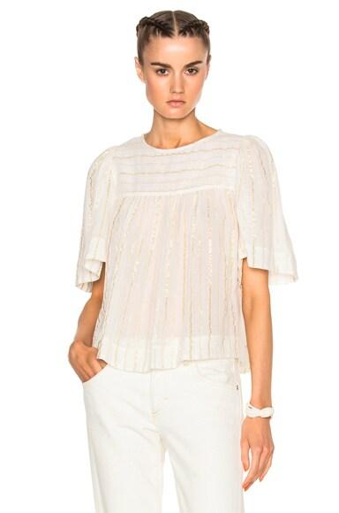 Sara Lurex Cotton Top