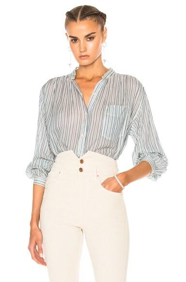 Isabel Marant Etoile Jana Striped Shirt in Blue