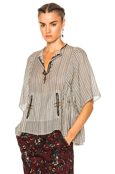 Isabel Marant Etoile Joy Striped Shirt in Ecru