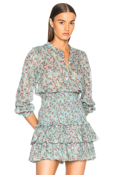 Maria Printed Embroidered Blouse