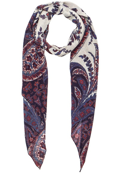 Isabel Marant Etoile Fay Flower Foulard Scarf in Midnight