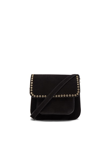 Isabel Marant Etoile Mela Eyelet Bag in Black