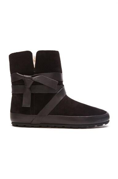 Isabel Marant Etoile Nygel Winter Calfskin Velvet Dancing Boots in Black