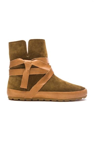 Isabel Marant Etoile Nygel Winter Calfskin Velvet Dancing Boots in Brown