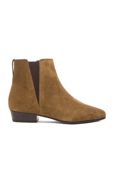 Isabel Marant Etoile Patsha Calfskin Velvet Boots in Brown